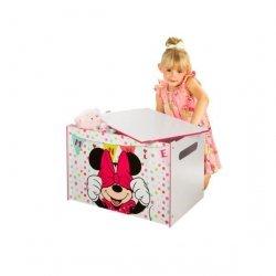 Pojemnik drewniany na zabawki Myszka Minnie