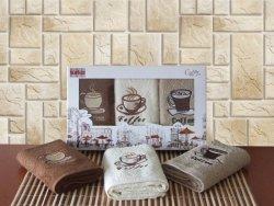 Ręcznik Bawełniany Cotton Coffee 3x 30x50 Kpl.