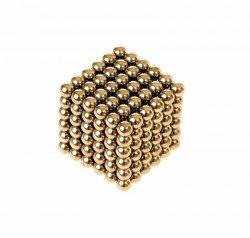 Neocube klocki magnetyczne kulki 5mm złote 216el.