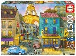 Puzzle Ulice Paryża 1500 el.