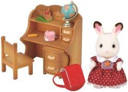 EPOCH  Sylvanian Families Zestaw z siostrą królików z czekoladowymi uszkami (biurko)