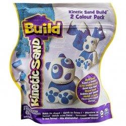 Spin Master Kinetic Sand Build - piasek konstrukcyjny 2 kolory niebieski-biały 454g