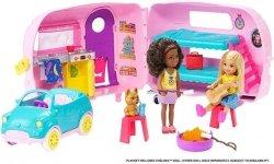 Barbie Przyczepa kempingowa Chelsea + Lalka
