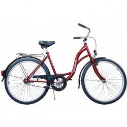 Rower Miejski Damski 26 Classic Bordowy
