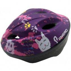Kask Rowerowy Dziecięcy Regulowany Enero Love Kitty R.S (47-49Cm )