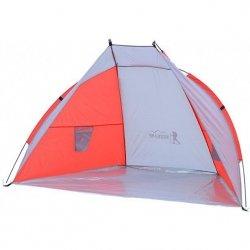 Namiot Osłona Plażowa Sun 200X120X120Cm Szaro-Czerwona Royokamp