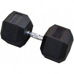 Hantla gumowa Hex 55 kg eb fit
