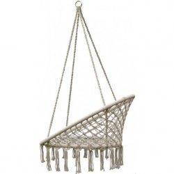 Hamak ażurowy fotel wiszący 80x60cm ecru