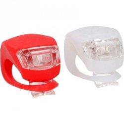 Zestaw Silikonowych Lamp Rowerowych LED Przód Tył DUNLOP