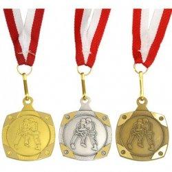 Medal Promo Judo/Karate Srebrny Kwadrat 268728