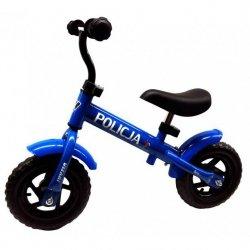 Rowerek Biegowy Metalowy Niebieski 10 Policja