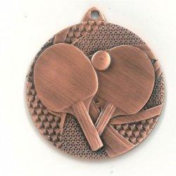Medal 50mm brązowy tenis stołowy MMC7750/B