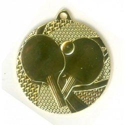 Medal 50mm złoty tenis stołowy MMC7750/G
