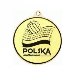 Medal Złoty Z Miejscem Na Emblemat 25 Mm - Medal Stalowy Grawerowany Laserem Rmi