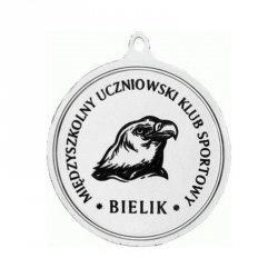 Medal Srebrny Z Miejscem Na Emblemat 25 Mm - Medal Stalowy Grawerowany Laserem- Rmi
