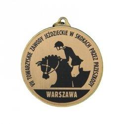 Medal Metalowy Z Grawerowaniem Na Laminacie