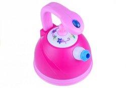Czajnik Różowy Świeci Gra Dźwięki Na Wodę