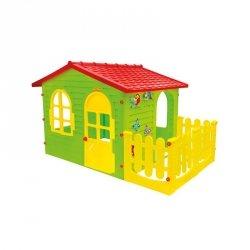 Duży Domek Ogrodowy z Płotkiem dla Dzieci Mochtoys + bramka gratis!