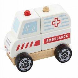 Viga Drewniane Klocki Ambulans