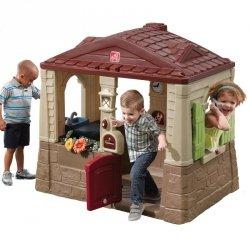 STEP2 Naturalny domek Ogrodowy dla dzieci Neat&Tidy Cottage + bramka gratis!