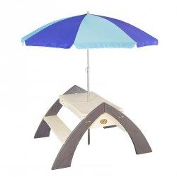 Drewniany Stół piknikowy z parasolem Delta Axi