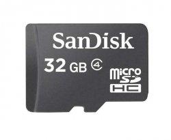 Sandisk 32 GB, MicroSDHC, Flash memory class 4