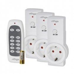 EnerGenie Smart switching wireless socket set, 3 channel, Shuko, 16 A