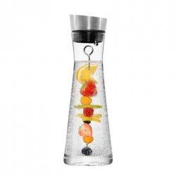 Stoneline Carafe Glass carafe with fruit skewer and dishwashing brush, Transparent, Capacity 1 L