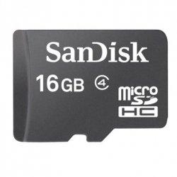 Sandisk MicroSDHC 16GB Class 2 16 GB, MicroSDHC, Flash memory class 2