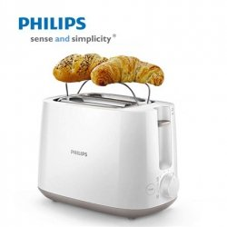 Philips Toaster HD2582/00 White/ grey, Plastic, 760 - 900 W, Number of slots 2, Number of power levels 8, Bun warmer included
