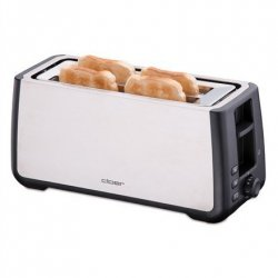 CLoer Toaster 3579 Stainless steel / black, Stainless steel, plastic, 1800 W, Number of slots 4, Bun warmer included