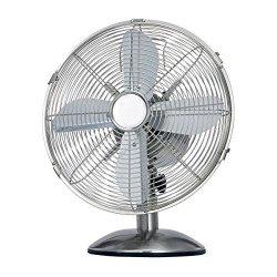 Termozeta TZMA01 Table Fan, Number of speeds 3, 35 W, Chrome
