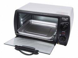Adler Mini oven AD 6003 9 L, With grill, Black/Silver, 1000 W