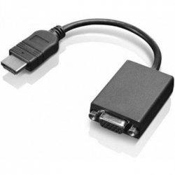 Lenovo HDMI to VGA 0.2 m, Black, Adapter