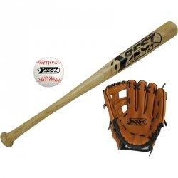 Zestaw do baseballa kij piłka i rękawica Best Sporting
