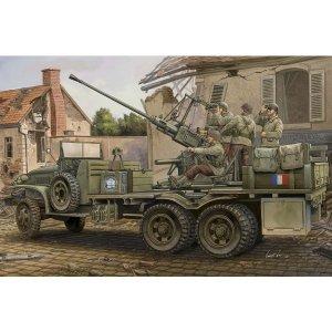 Hobby Boss Model plastikowy GMC with Anti -aircraft Bofors