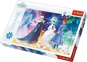 Trefl 24 elementy Maxi Frozen, W świetle gwiazd