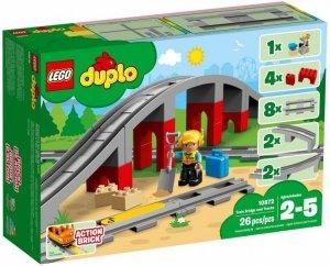 LEGO Klocki DUPLO 10872 Tory kolejowe i wiadukt
