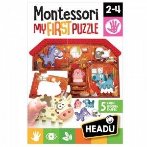 Russell Układanka HEADU Montessori Moje pierwsze puzzle - Farma