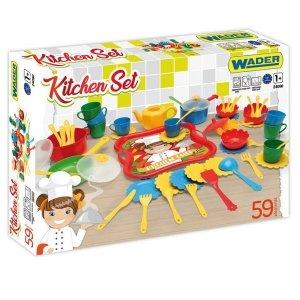 Wader Zestaw kuchenny 59 elementów Party World pudełko