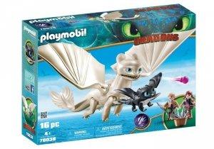 Playmobil Figurki Jak wytresować smoka - Biała Furia z małym smokiem i dziećmi