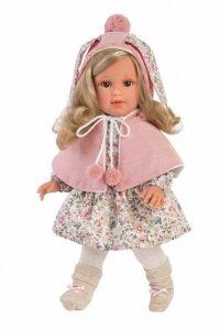 Llorens Lalka Lucia blondynka różowy kaptur 54024 40 cm