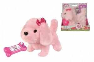 Simba Maskotka Chi Chi Love Słodki szczeniak, na kabel,  różowy, 17 cm