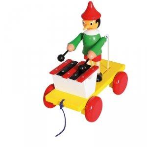 BINO Drewniana zabawka z ksylofonem Pinokio