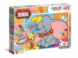 Clementoni Puzzle podłogowe 40 elementów Super Kolor Dumbo