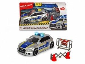 Dickie Pojazd SOS Policja Audi RS3, 15 cm