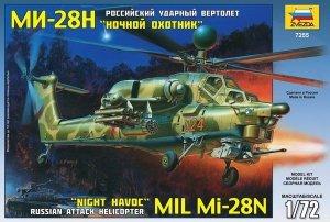 Zvezda Model plastikowy Mil MI-28N Rus. Attack Hel.