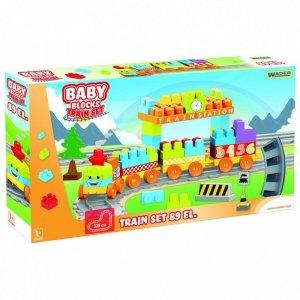 Baby Blocks Klocki kolejka 3,35 m 89 elementów
