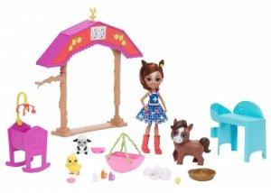 Mattel Lalka Enchantimals żłobek na farmie, zwierzątka