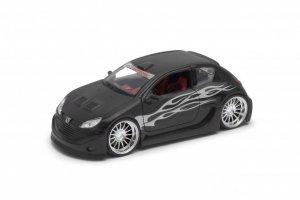 Welly Model kolekcjonerski Peugeot 206 Tuning czarny